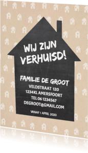 Verhuiskaarten - Verhuiskaart krijtbord huis av