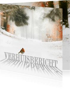 Verhuiskaarten - Verhuiskaart met kerstwens