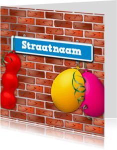 Verhuiskaarten - Verhuiskaart met straatnaambord