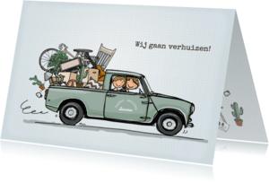 Verhuiskaarten - Verhuiskaart Minipickup - AV