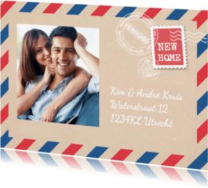Verhuiskaarten - Verhuiskaart postpapier av