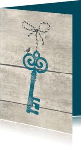 Verhuiskaarten - Verhuiskaart Sleutel met strikje