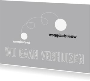 Verhuiskaarten - verhuizing - zilver1