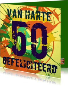 Verjaardagskaarten - Verjaardag 50 Retro IW