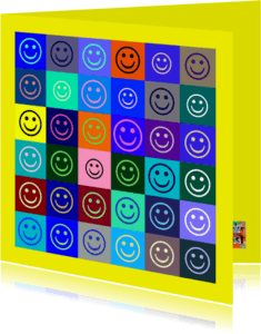 Verjaardagskaarten - Verjaardag blue smiles IW