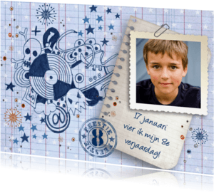 Kinderfeestjes - Verjaardag FEEST jongen Stoer Graffiti