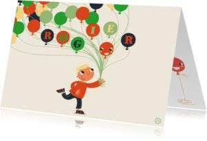 Verjaardagskaarten - Verjaardag jongen , feest, NK