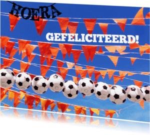 Verjaardagskaarten - verjaardag  jongen voetbal