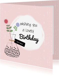Verjaardagskaarten - Verjaardag lovely flowers - SV