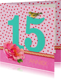 Verjaardagskaarten - Verjaardag Meisje 15