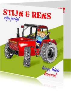 Verjaardagskaarten - Verjaardag op de tractor