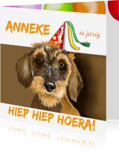 Verjaardagskaarten - Verjaardag Teuntje teckel