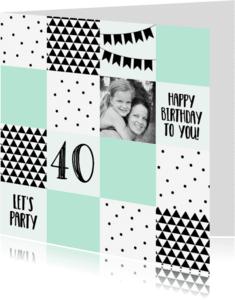 Verjaardagskaarten - Verjaardag/uitnodiging blok - WW