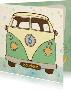 Verjaardagskaarten - Verjaardag Vintage busje Mint