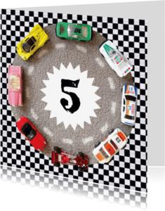 Verjaardagskaarten - Verjaardagskaart auto's leeftijd