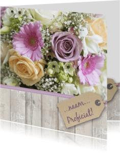 Verjaardagskaarten - Verjaardagskaart boeket zacht av