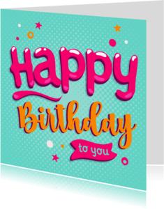 Verjaardagskaarten - Verjaardagskaart Bubble