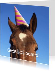 Verjaardagskaarten - Verjaardagskaart Gefelicipeerd