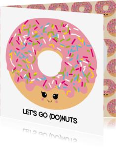 Verjaardagskaarten - Verjaardagskaart let's go donuts