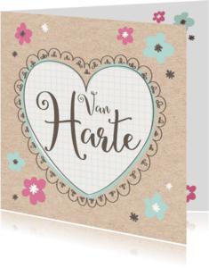 Verjaardagskaarten - Verjaardagskaart Papier Hart