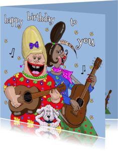 Verjaardagskaarten - Verjaardagskaart Serenade gitaar