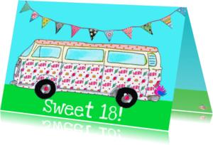 Verjaardagskaarten - Verjaardagskaart Sweet 18 PA