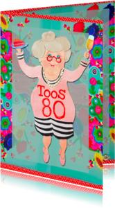 Verjaardagskaarten - Verjaardagskaart Toos PA