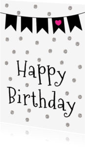 Verjaardagskaarten - Verjaardagskaart Vlaggenlijn -WW