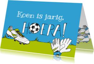 Verjaardagskaarten - Verjaardagskaart voetbalschoen