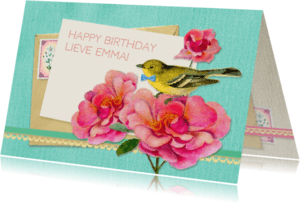 Verjaardagskaarten - Verjaardagskaart zoet & lief
