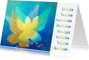 Condoleancekaarten - Vlinder Verbinden Hervinden - AW