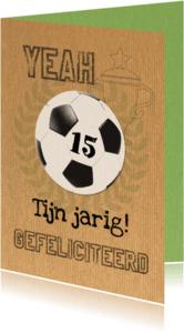 Verjaardagskaarten - Voetbal en jarig kraftpapier-ByF