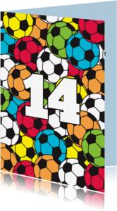 Felicitatiekaarten - Voetbal kleur