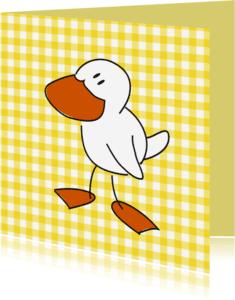 Dierenkaarten - Vogeltje met ruitjes