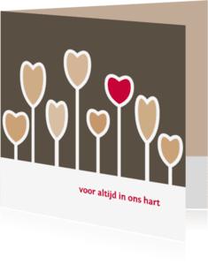 Rouwkaarten - voor altijd in ons hart 3