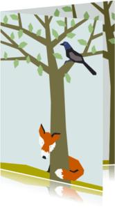 Dierenkaarten - Vos en Kauw