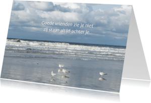 Vriendschap kaarten - vriendschap Horizon aan zee