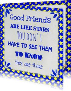 Vriendschap kaarten - Vriendschap kaart Ster PA