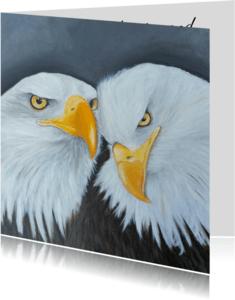 Vriendschap kaarten - Vriendschap tussen twee arenden