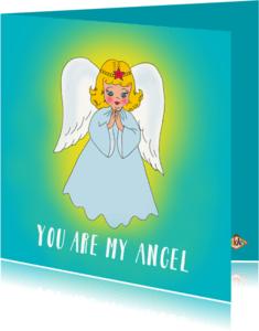 Vriendschap kaarten - Vriendschapskaart Angel