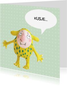 Vriendschap kaarten - Vriendschapskaart kusje