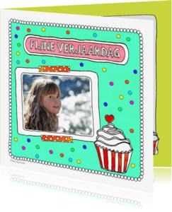 Verjaardagskaarten - Vrolijke verjaardagskaart 'fijne verjaardag' - SD