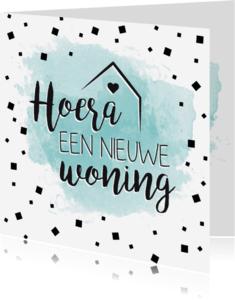 Verhuiskaarten - Watercolor nieuwe woning