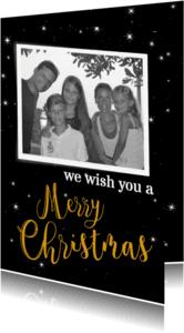 Kerstkaarten - We wish you fotokaart-BF