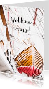Welkom thuis kaarten - welkom thuis kaart, reddingsloep