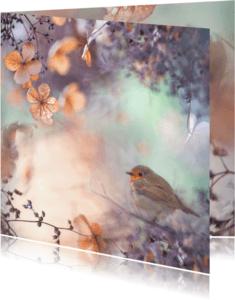 Wenskaarten divers - Wens met hortensiabloemen