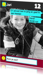 Kinderfeestjes - WhatsApp Uitnodiging stoere jongens