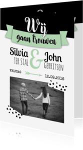 Trouwkaarten - Wij gaan trouwen in vaandel-isf