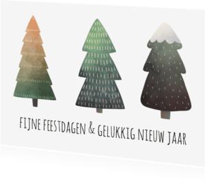 Kerstkaarten - Winter bomen kerst - SU