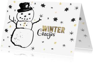 Zomaar kaarten - WInterkaart winter groetjes